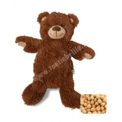 Warming soft toy mama bear with cherry pit pillow
