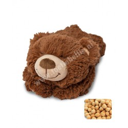 Warming soft toy bear child with cherry pit pillow